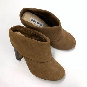 Steve Madden Brown Suede Mule Bootie Heel size 6